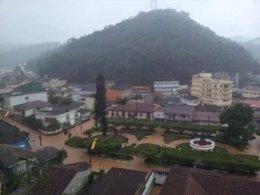 Lluvias torrenciales sobre Espirito Santo (Brasil)
