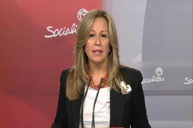 La Secretaria De Política Social Del PSOE, Trinidad Jiménez,
