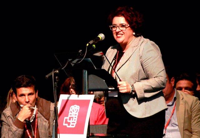 Teresa Jiménez, en el Congreso Provincial del PSOE de Granada