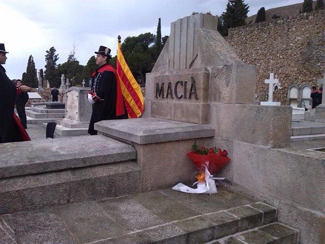 Tumba del expresidente de la Generalitat Francesc Macià
