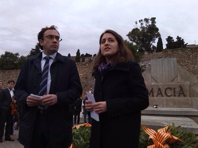 Josep Rull (CDC), Marta Pascal (JNC)