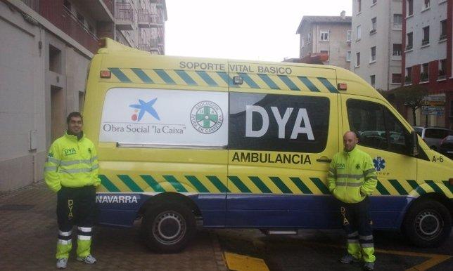 Ambulancia de DYA adquirida con apoyo de Obra Social La Caixa.
