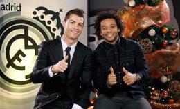 Cristiano Ronaldo y Marcelo felicitan la Navidad