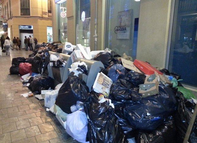 Huelga de basura en Málaga