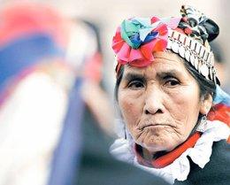 La líder indígena chilena Nicolasa Quintremán