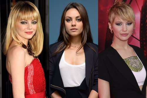 . Emma Stone, Mila Kunis Y Jennifer Lawrence
