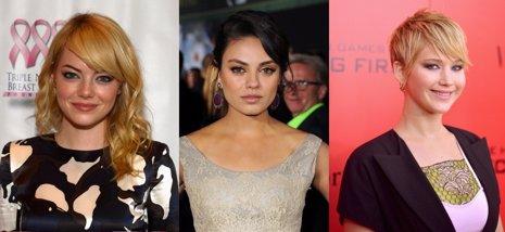 Emma Stone, Mila Kunis y Jennifer Lawrence