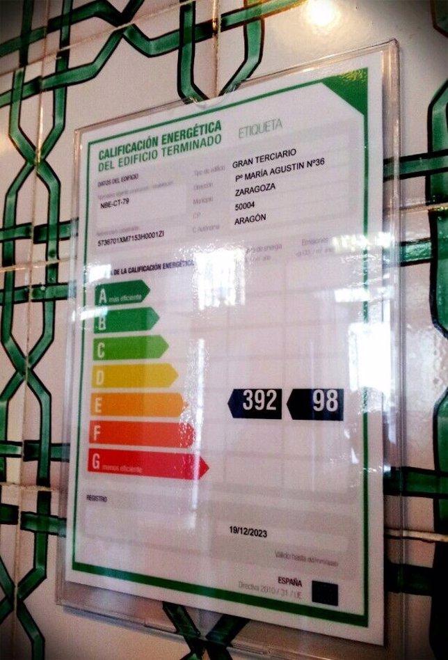 El Gobierno aragonés obtiene la certificación energética de tres edificios.