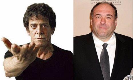 Lou Reed y James Gandolfini