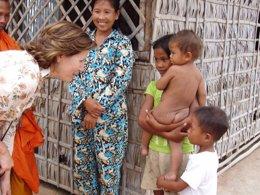 Presidenta de UNICEF España, Consuelo Crespo, en Camboya
