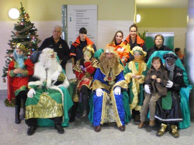 Fiesta de Navidad en el Hospital Alto Guadalquivir de Andújar (Jaén)