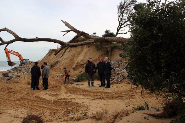 Daños del temporal en Laredo