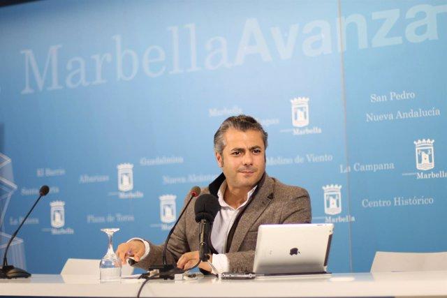 El concejal ded Marbella José Eduardo Díaz