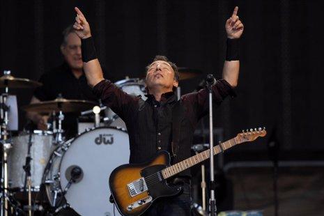Cantante Bruce Springsteen en su concierto en Madrid