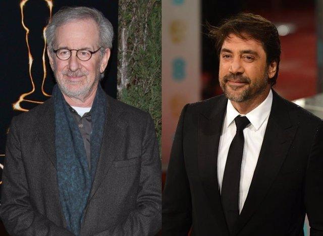 Steven Spielberg y Javier Bardem