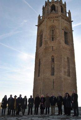 Inauguración de la restauración del campanario de la Seu Vella de Lleida