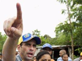 """Venezuela.- Capriles asegura que Venezuela vive una """"situación de emergencia"""" por la violencia"""