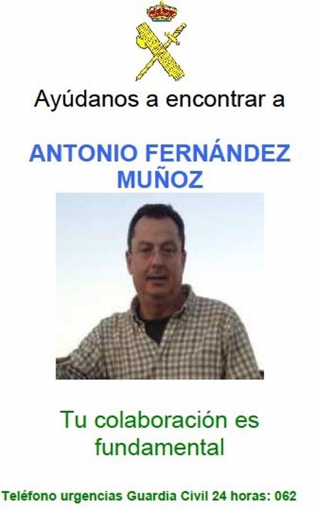 Antonio Fernández Muñoz, desaparecido Jara