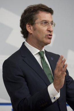 El presidente de la Xunta en la rueda de prensa tras el Consello de 9 de enero