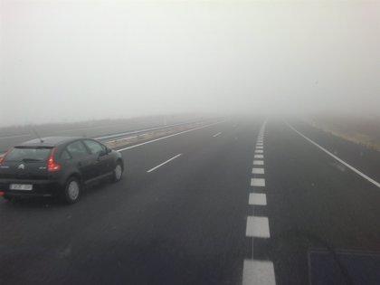 La presencia de bancos de niebla dificulta la visibilidad en nueve tramos de carretera de la Comunidad