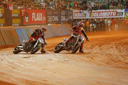 El estadounidense Brad Baker, campeón del 'Dirt Track' de Barcelona