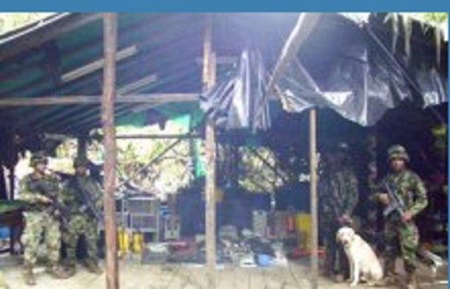 Laboratorio de cocaína de las FARC