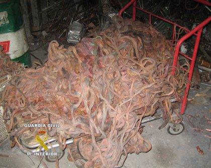 Agilizan la lucha contra el venta de cable de cobre robado