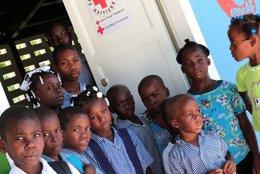 Más de 200 cooperantes de Cruz Roja trabajaron en Haiti.
