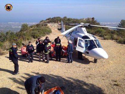 Rescatado un participante de la carrera vertical en el Mondúver tras sufrir un ictus