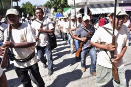 Hombres armados en Michoacán