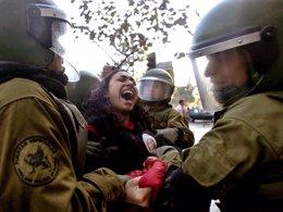 Protesta de los estudiantes chilenos