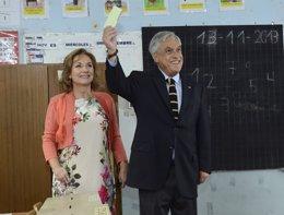 El presidente de Chile, Sebastián Piñera, y su mujer.