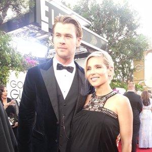 Chris Hemsworth y Elsa Pataky #GoldenGlobes