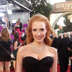 Jessica Chastain #GoldenGlobes