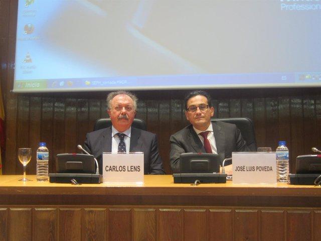 Carlos Lens y el presidente de la SEFH