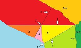 Mapa conflisto marítimo Chile-Perú