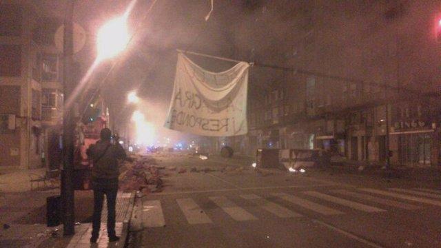 Imagen de los disturbios en Gamonal