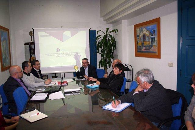 Reunión en la Dirección de Medio Ambiente para analizar en Alcantarilla