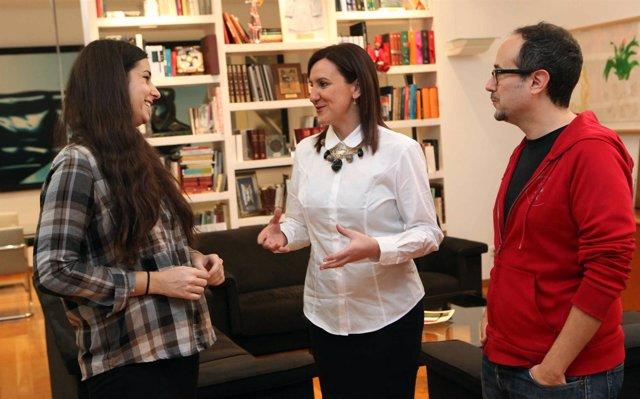 MARIA JOSE CATALA RECIBE A ADRIANA NAVARRO Y A ALEX MONTOYA, NOMINADOS VALENCIAN