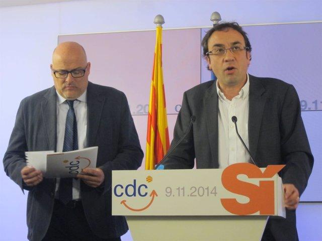 Lluís Corominas y Josep Rull, CDC