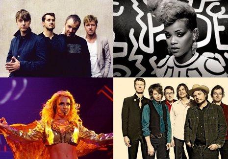 Travis, Rihanna, Britney Spears y Wilco