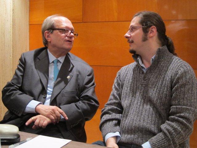 Pere Gimferrer y Josep Pedrals