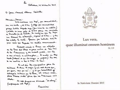 El Papa muestra interés por el último libro de un escritor castellonense sobre un cuadro de Caravaggio