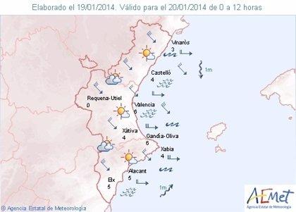 La provincia de Castellón registra vientos de hasta 95 kilómetros por hora esta madrugada