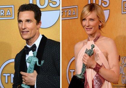 Matthew McConaughey y Cate Blanchett, Premiados por el Sindicato de Actores