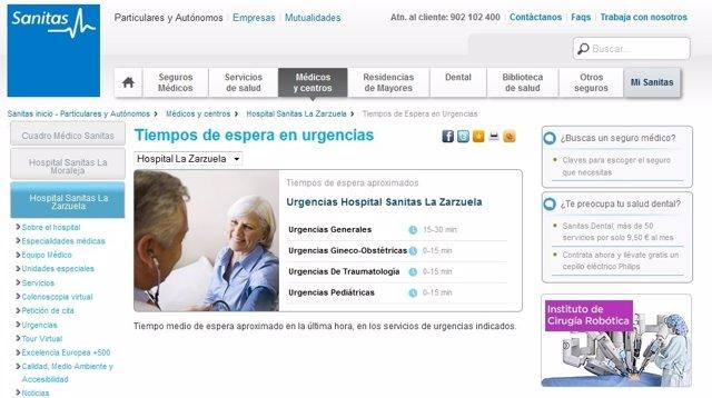 Aplicación 'on line' para saber el tiempo de espera en urgencias de hospitaless