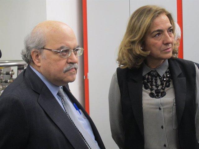 El conseller A.Mas-Colell y la secretaria de Estado de Investigación Carmen Vela