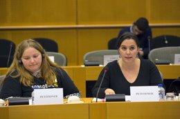 La ex eurodiputada del BNG Ana Miranda interviene en la Comisión de Peticiones