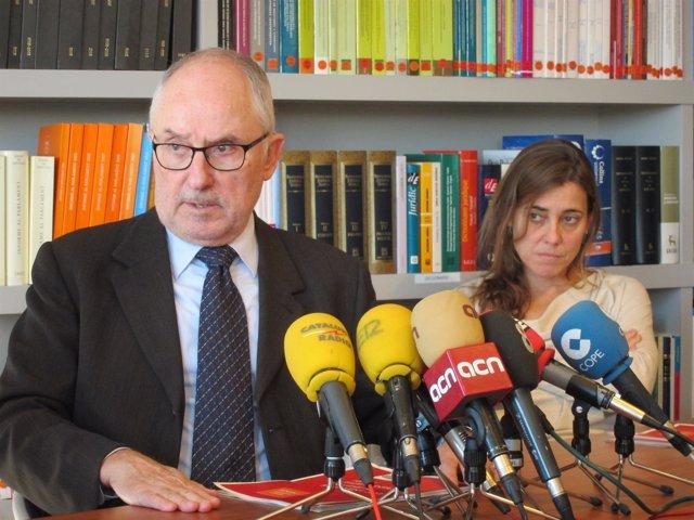 Rafael Ribó (Síndic Greuges) MªJesús Larios (adjunta para derechos de los niños)