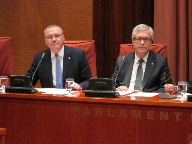 El alcalde de Reus, Carles Pellicer, y el de Tarragona Josep Fèlix Ballesteros